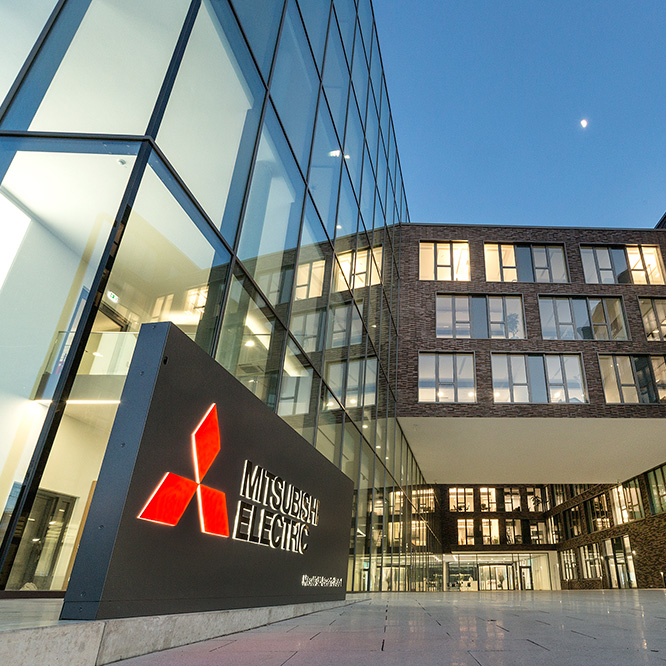 Neubau der Europazentrale von Mitsubishi Electric in Ratingen